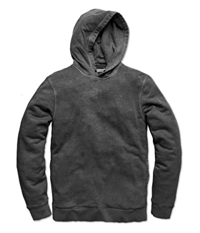 Outerknown Sur Snap Hoodie (Faded Black) Men