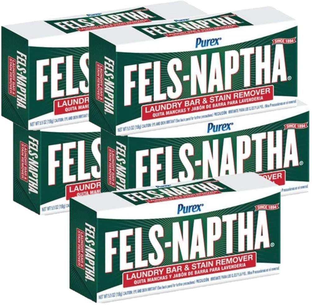 Fels Naptha Dial Laundry San discount Jose Mall Soap of Pack 5