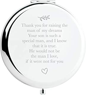 Mother of The Groom Gifts from Bride, Wedding Keepsake Gift, Great Gifts Present for Mom Mommy Mother(Silver, Mother of The Groom)