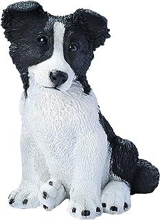 (Border Collie) - Design Toscano Border Collie Puppy Dog Statue, Multicoloured