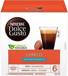 Nescafé Dolce Gusto Lungo Decaffeinato Café Décaféiné, 16 Capsules, 112g