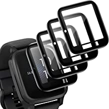 EZCO 4-Pack Screen Protector Compatible with Garmin Venu Sq, Waterproof 3D Full Coverage Screen Protector Covers Film Acce...