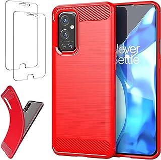 Ttianfa hoesjes voor OnePlus 9 Pro case【2 Stuks】Gehard Glas,koolstofvezel Ultradun Volledige Bescherming 360°Schokbestendi...