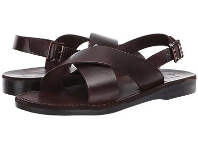 Jerusalem Sandals Elan Buckle (Brown) Men