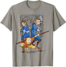 Nickelodeon Avatar The Last Airbender Action Group Shot T-Shirt