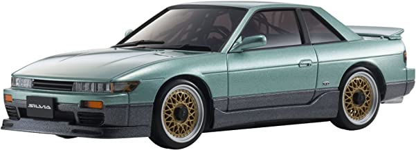 Kyosho Mini-Z MA-020 AWD Sport Metallic Green Nissan Silvia S13 Aero Micro RC Car with LED Lights