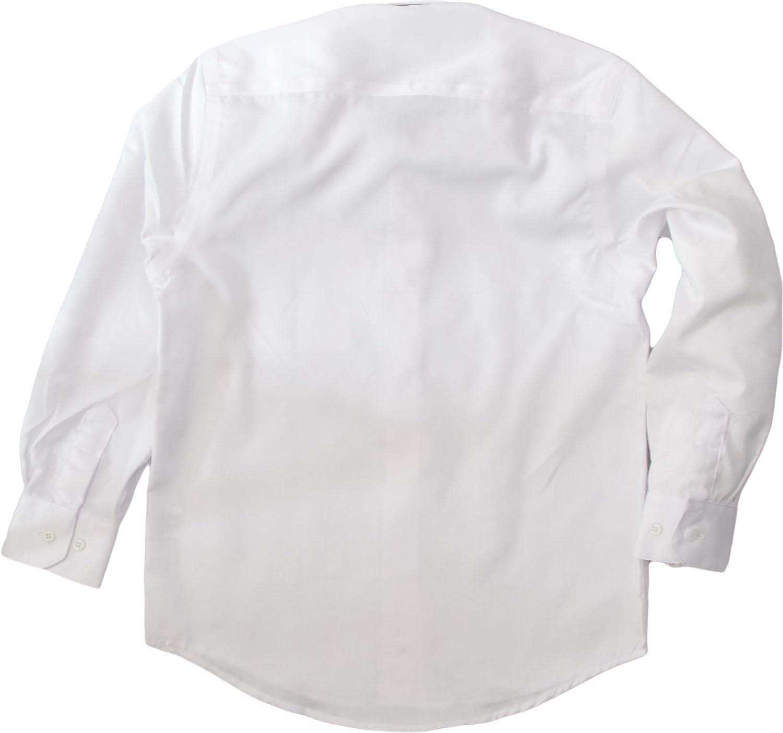 Alviso Boys White Long Sleeve Dress Shirt