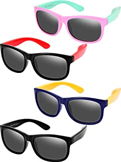 4 Pieces Toddler Sunglasses Children Sunglasses Rubber...