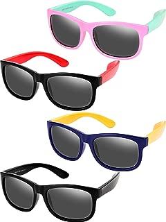 4 Pieces Toddler Sunglasses Children Sunglasses Rubber...