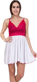 American-Elm Women's Pink Sleeveless Baby Doll