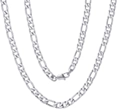 ChainsPro Mens NK 3:1 Figaro Chain Necklace-4/5/6/7.5/8/9/12/13MM Width, 18K Gold Plated/316L Stainless Steel/Black, 18-30...