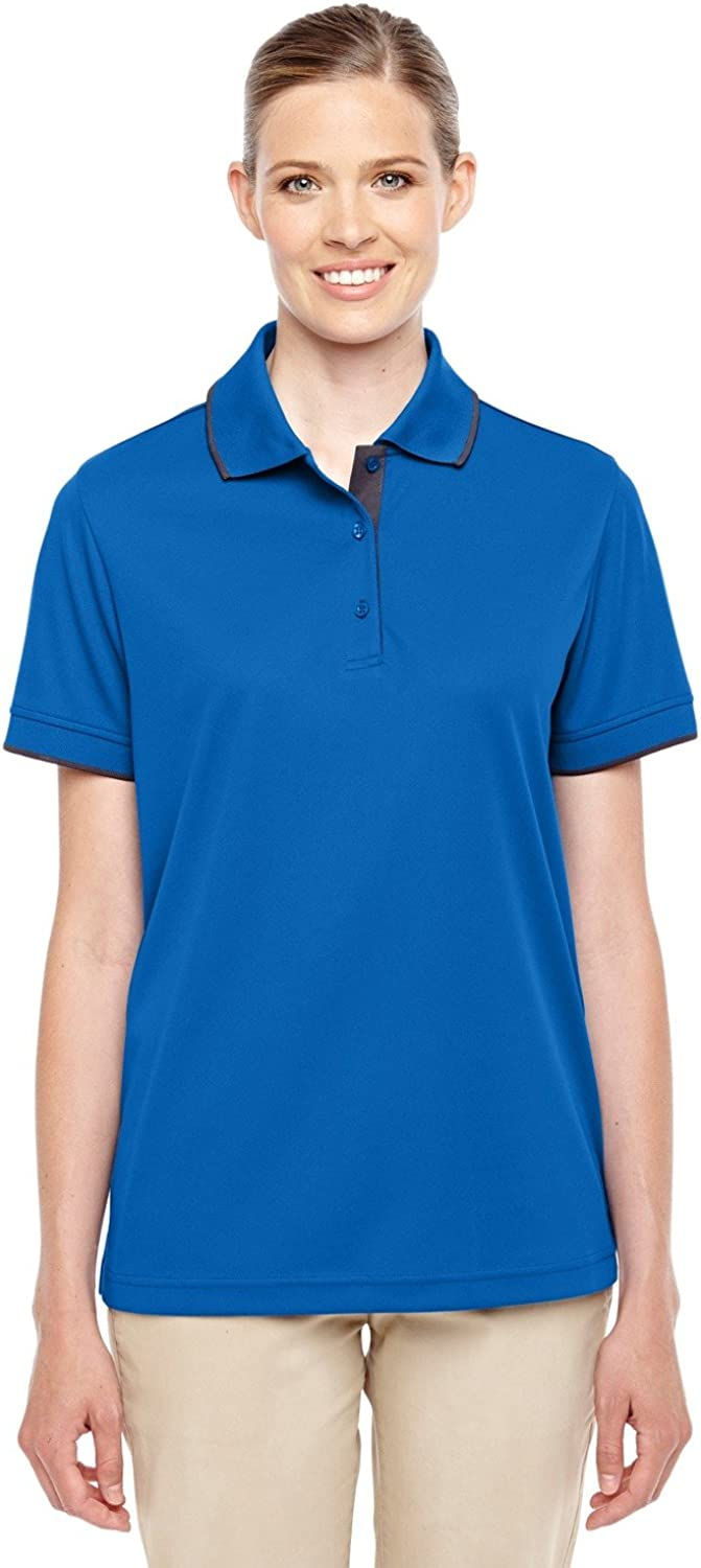 Ash City - Core 365 Motive Performance Pique Polo with Tipped Collar (78222) -TR ROY/ CRBN -3XL