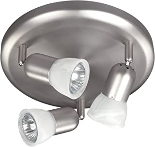 CANARM LTD. ICW356A03BPT10 James 3 Bulb Ceiling/Wall Light, Brushed Pewter