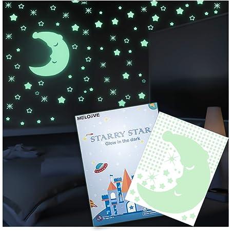 100pcs LALANG Etoiles Autocollants Lumineux Fluorescents et Phosphorescents dans lobscurit/é Stickers Muraux D/écoration Murale Chambre de B/éb/é Enfant