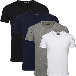 c4d70163c43103 Jack   Jones Men s T-Shirt 4-Pack Plain or Multi-Coloured Basic