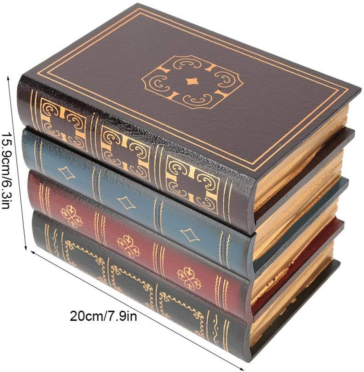 Decorative Accessories B Large Fake Book Box Retro Office for Home ...