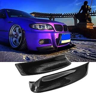 ALAVENTE Carbon Fiber Front Bumper Splitter Lip Spoiler for BMW E46 M3 CSL 1999-2006 (2pcs)