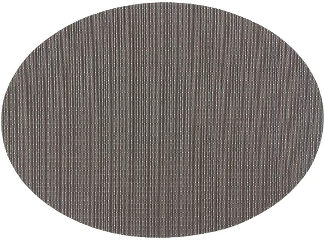 S C Solid Color Non Slip Insulation Western Food Mat Oval Teslin Table Mat Multicolor 1 4532 5cm