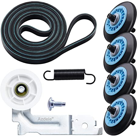 Upgraded Dryer Repair Kit Compatible with Samsung Drum Roller DC97-16782A,Dryer Belt 6602-001655, Idler Pulley DC93-00634A, Replacement AP5325135 AP4373659 AP6038887 PS4221885 PS4133825