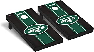 Victory Tailgate Regulation NFL Onyx Stained Stripe Version 2 Series Cornhole Board Set - 2 Boards, 8 Bags - All NFL Teams Available
