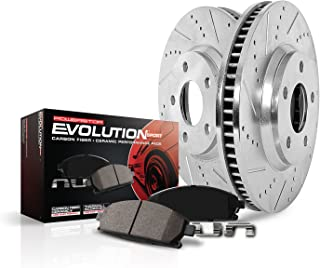 Power Stop K6946 Front Brake Kit with Drilled/Slotted Brake Rotors and Z23 Evolution Ceramic Brake Pads