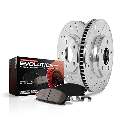 Power Stop K5893 Front Z23 Evolution Brake Kit with Drilled/Slotted Rotors and Ceramic Brake