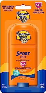 Banana Boat Ultra Sport Reef Friendly Sunscreen Stick, Broad Spectrum SPF 50, 1.5 Ounces