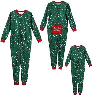 Yudesun Donna Uomo Ragazzi Ragazze Pigiama Famiglia Natale Pigiama in Due Pezzi Bambino Pigiami Interi Cotone Caldo Costume Tuta da Pigiama Invernale