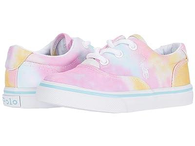 Polo Ralph Lauren Kids Thornton (Toddler) (Pink/Blue Tie-Dye/White Polo Print) Girl