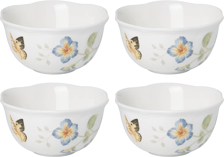 Lenox 880122 Butterfly Meadow Dessert Bowls (Set of 4) 12 oz Multicolor