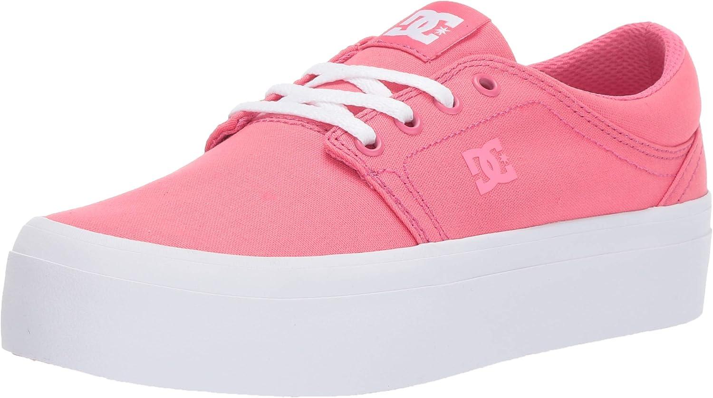 DC Womens Trase Platform Tx Hot Pink Shoes Size