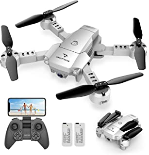 SNAPTAIN A10 Mini Foldable Drone with 720P HD Camera FPV WiFi RC Quadcopter w/Voice Control, Gesture Control, Trajectory F...