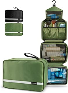 Hanging Toiletry Bag, 6.8L Compact Travel Toiletry Bag for Men and Women, Portable and..