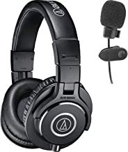 Audio-Technica ATH-M40x Professional Studio Monitor Headphones Deluxe Bundle