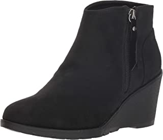 Skechers BOBS Women's Tumble Weed. Side Zip Wedge Bootie W Memory Foam Ankle Boot