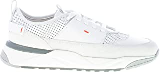 Santoni Uomo Sneaker Innova in Pelle e camoscio Bianco
