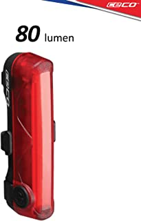 CECO-USA: 80 Lumen USB Rechargeable Bike Tail Light - Super Wide & Bright Model TC80 Bicycle Rear Light - IP67 Waterproof,...
