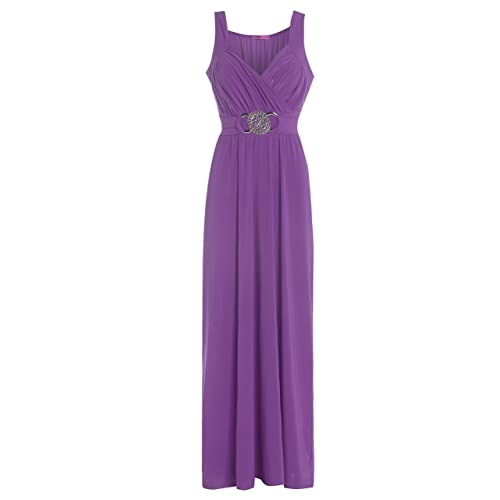 808c6b144a2 Glossy Look Long Bridesmaid Formal Gown Ball Party Cocktail Evening Prom  Buckle Maxi Dress