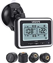 Vesafe TPMS, Wireless Tire Pressure Monitoring System for RV, Trailer, Coach, Motor Home, Fifth Wheel, with 4 Anti-Theft sensors