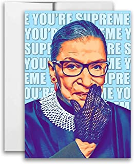 Ruth Bader Ginsburg You're Supreme Notorious RBG Postcard 5x7 inch Print w/Envelope