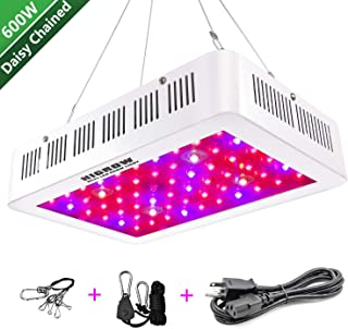 HIGROW 600W LED Grow Light, Full Spectrum Plant Light with Daisy Chain for Indoor Greenhouse Hydroponics Plants Veg and Flower (10W LEDs 60Pcs)