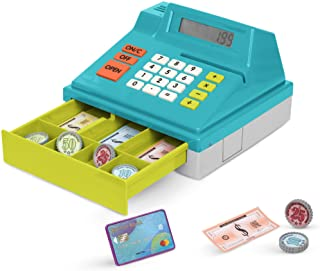 Battat – Toy Cash Register for Kids, Toddlers – 48pc Play Register with Toy Money, Credit Card – Calculating Cash Register...