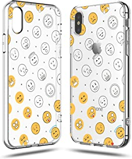 iPhone XR Case,Cute Funny Hipster Lovely Emoji Smile Life Attitude Girly Women Girls Boys Teens Sassy Trendy Kids Cool Simple Fashion Chic Clear Soft Case for Teens Compatible for iPhone XR