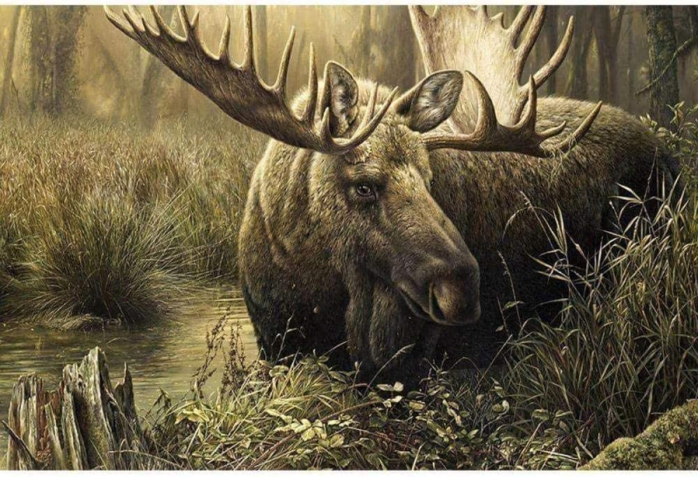 11CT Stamped Fees free Max 85% OFF Cross Stitch Embroidery Kits Forest Deer The Riv of