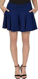 Stretch is Comfort Women's Flowy Skort Wide Leg Shorts with Pockets