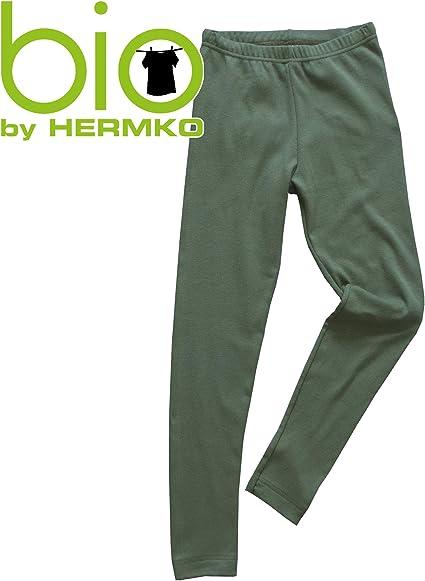 HERMKO 2720 Leggings Enfant pour gar/çon et Fille en 100/% Coton Biologique