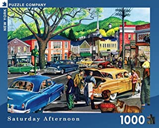 New York Puzzle Company - Saturday Morning - 1000 Piece Jigsaw Puzzle