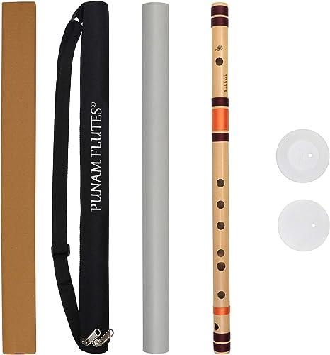 Punam Flutes C Sharp Medium Right Hand Bansuri 18 inches