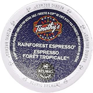Timothy's World Coffee Rainforest Espresso Coffee K-Cups, 24 Count