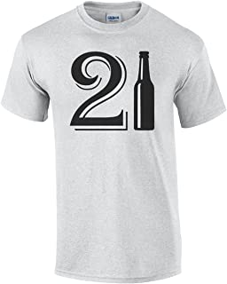 84bcf4814 21st Birthday Beer Bottle T shirt Happy 21st Birthday Sarcastic Funny Beer  Drinking Bar Adult Humor